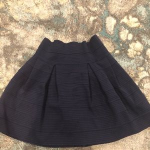 H&M Women's Navy Blue Fit & Flare Skirt - Size M